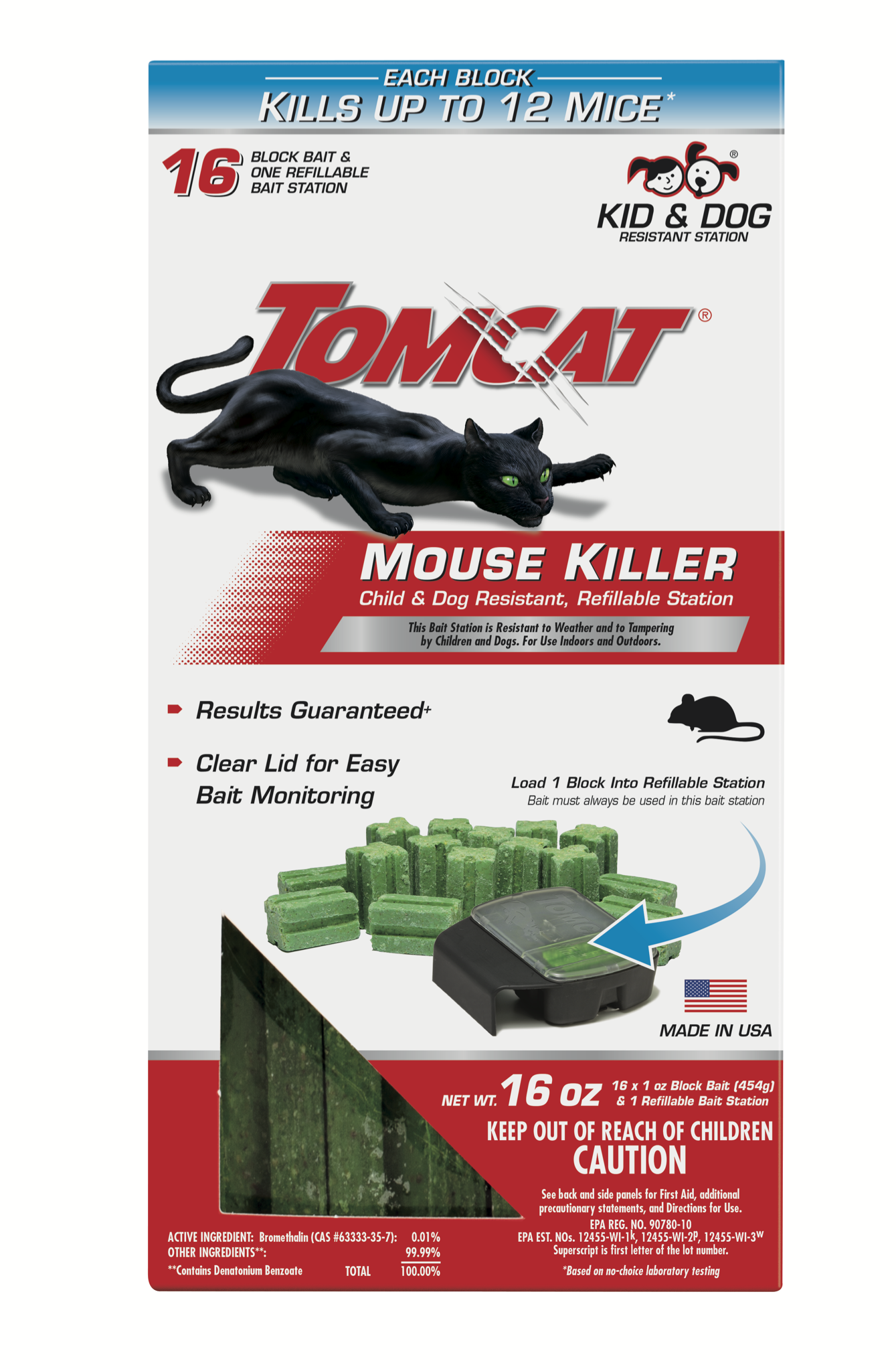 Mouse Trap Killer Tomcat Rat Mice Bait Rodent Poison Control Station 32 Blocks