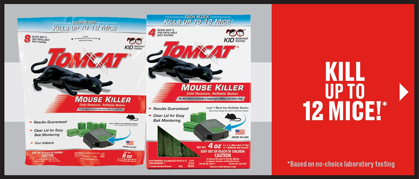 Tomcat Mouse Baits - Kill up to 12 mice