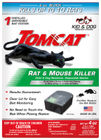 Tomcat® Rat & Mouse Killer Child & Dog Resistant, Disposable Station