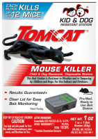 Image of Tomcat Mouse Killer Child & Dog Resistant, Disposable Station packaging