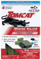 Tomcat Mouse Killer Child & Dog Resistant, Refillable - With 4 Refills