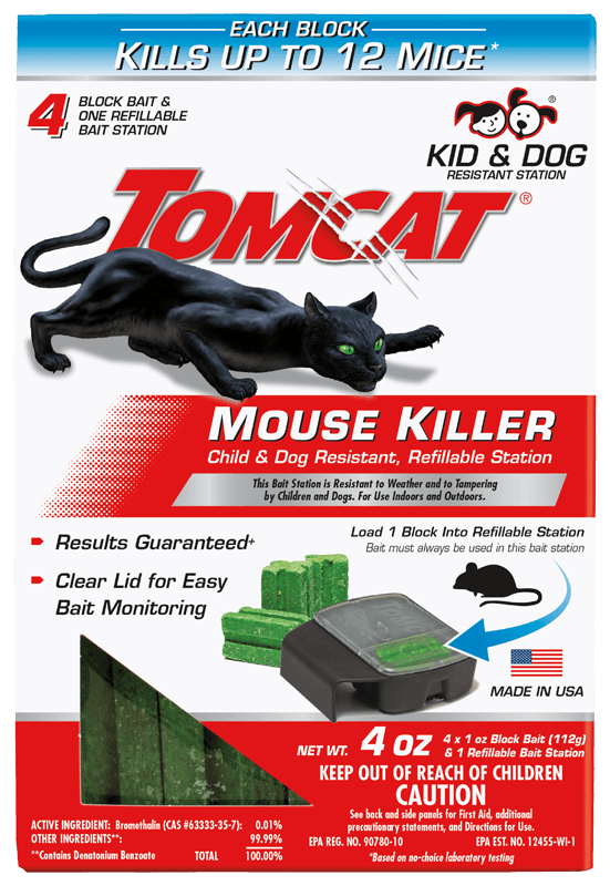 Tomcat Mouse Killer Child & Dog Resistant, Refillable