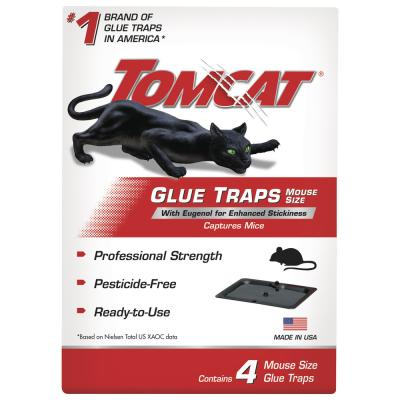 Tomcat® Glue Traps Mouse Size with Eugenol for Enhanced Stickiness