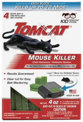 Tomcat® Mouse Killer Child Resistant, Refillable Station