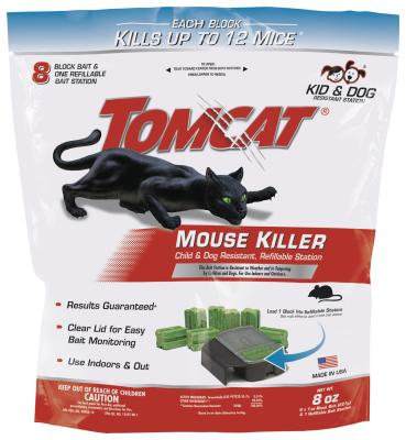 Tomcat® Mouse Killer Child & Dog Resistant, Refillable Station