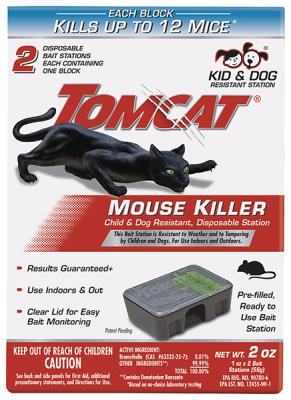 Tomcat® Mouse Killer Child & Dog Resistant, Disposable Station