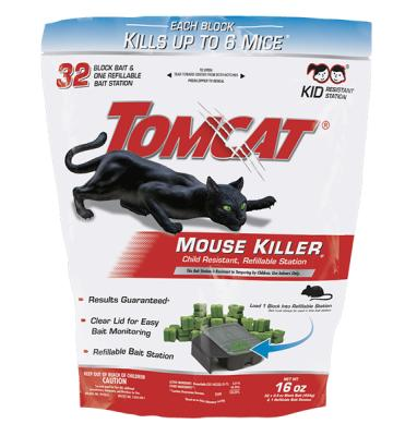 Tomcat® Mouse Killer e Child Resistant, Refillable Station