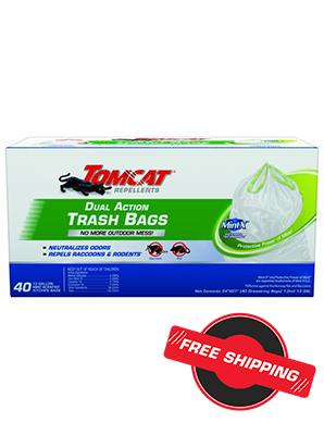 Tomcat® Repellents Dual Action Kitchen Trash Bags (White 13 Gallon)