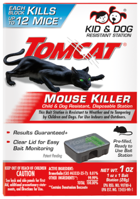 Tomcat® Mouse Killer Child Resistant, Disposable Station